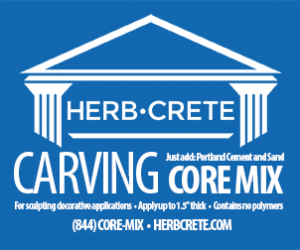 HerbCrete carving core mix small label blue